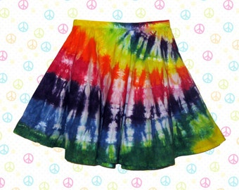 Tie-Dyed Rainbow Festival Skirt