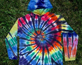 Stained Glass Tie-Dye Hoodie for Kids