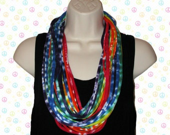 T-shirt Infinity Scarf in Rich Colors