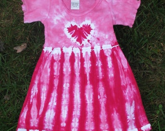 Pink Heart Tie-Dye Infant Dress