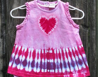 Pink Heart Romper Dress
