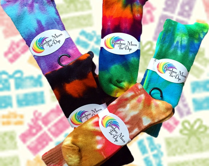 Featured listing image: Tie-Dye Bamboo Socks for Kids or Adults - Any Colors You Want!