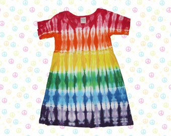 Rainbow Tie-Dye Infant Dress