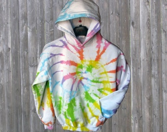 Pastel Rainbow Fleece Hoodie