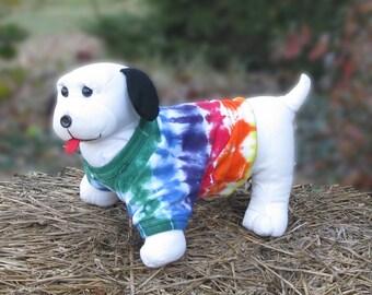 Rainbow Tie-Dye Dog Tee