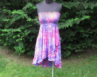 Pink and Purple Ruffled Skirt or Dress