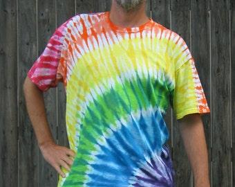 Rainbow Tie-dye Tee Shirt