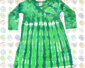Green Tie-Dye Dress for Infants/Toddlers