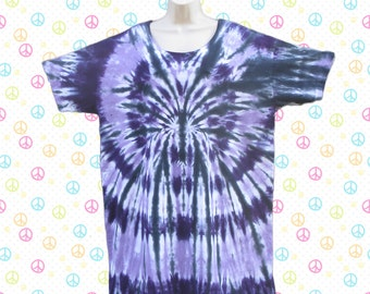 Purple and Black Tie-dye Sleep Tee or Dress