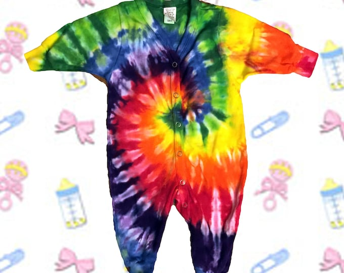 Featured listing image: Rainbow Spiral Baby Union Suit