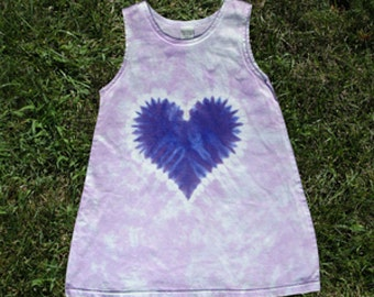 Purple heart play dress and jumper for girls