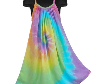 Breezy Pastel Rainbow Parachute Dress