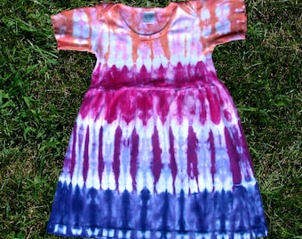 Peach, Pink, and Purple Tie-Dye Infant Dress