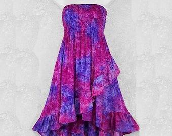 Tie-dye ruffled skirt or dress