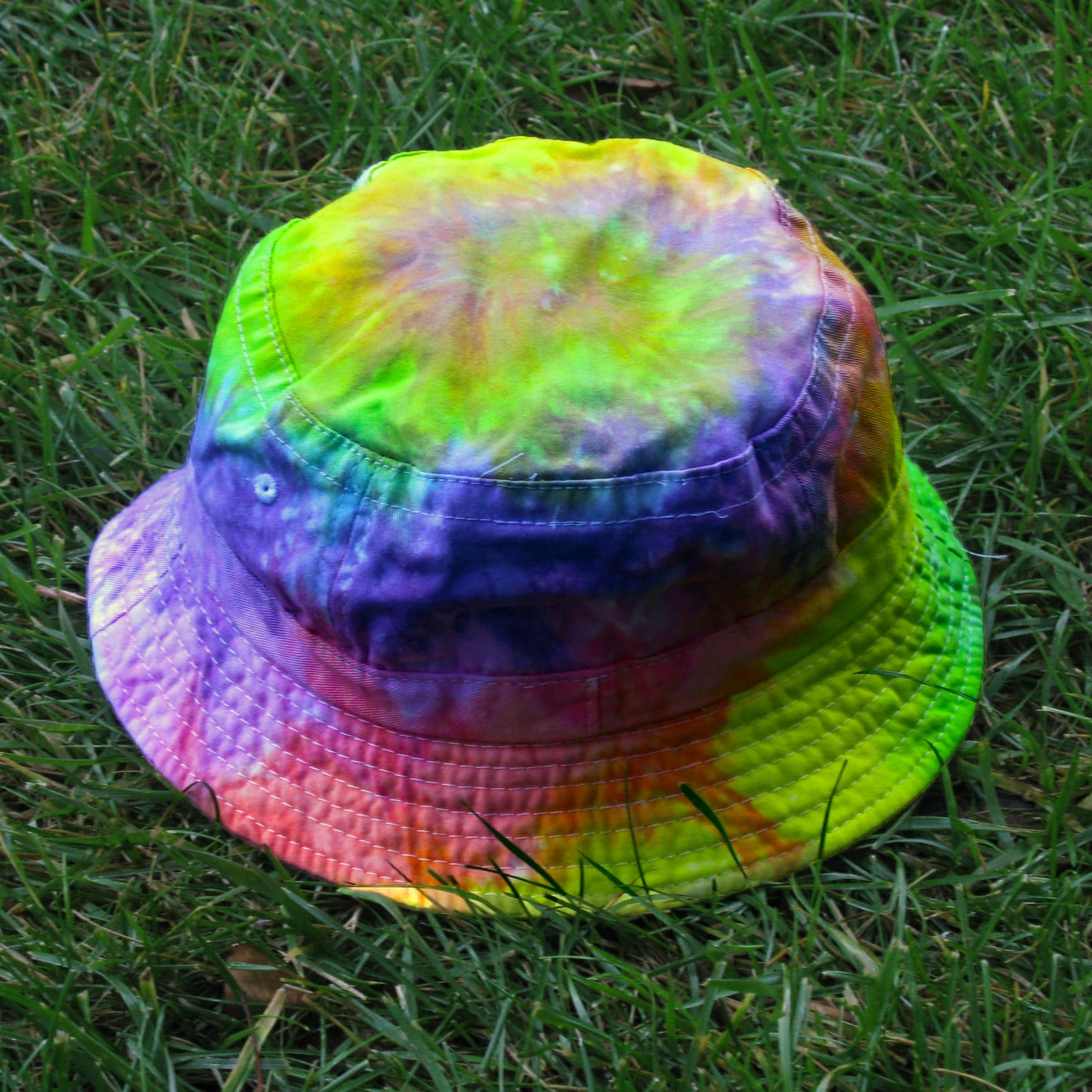 370b69741bd Tie-Dye Bucket Hat in Pastel Rainbow for Kids and Adults