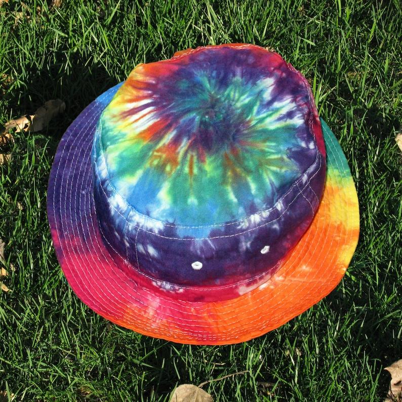 Tie-Dye Bucket Hat in Rainbow Swirls