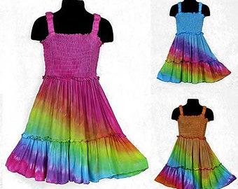 Girls Rainbow Angel Dress