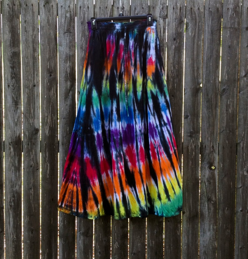 Long Stained Glass Rayon Skirt