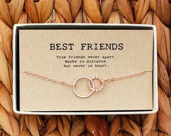 Best friends necklace u2022 Graduation Gift u2022 Best Friend Gift Jewelry u2022 Long Distance u2022 Friends Forever u2022 Circles Necklace u2022 BF-Ne-04 & Graduation gift for best friend | Etsy