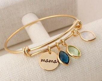 Mom Bracelet Greek Mama Bracelet Mother/'s Day Bracelet Gold plated mother bracelet Love my Mom Jewelry Gift for Mother