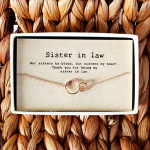 Sister In Law Necklace Bonus Sister Necklace Sister In Law Etsy