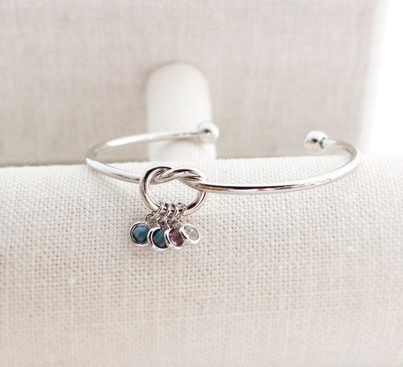 Custom Birthstone Bracelet Personalized Sweet 16 Gift 16th