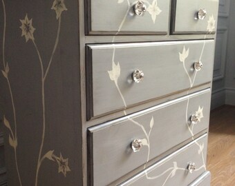 Medium Hand Painted Chest of Drawers