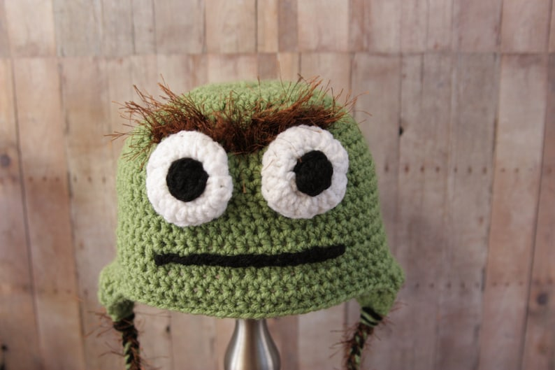 874a1fda1e6 Oscar The Grouch Hat Sesame Street Hat