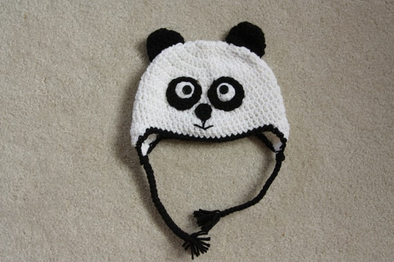 Panda Mütze Hut häkeln Panda Panda-Bär Hut Bär Hut | Etsy