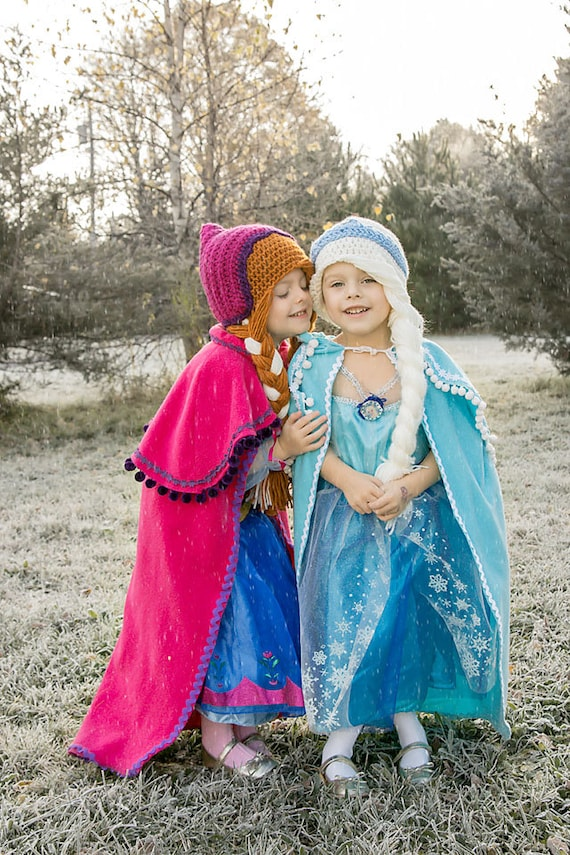 Frozen Elsa hat girls kids children warm Beanie dual layers new