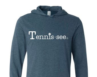Tennessee Tshirt Hoodie, Navy Tshirt, Tennis.see® Tshirt, Tennessee Shirt, Gray Tennis Shirt, Gray Tennessee Top, Tennissee Shirt, Unisex