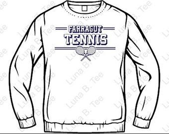 Farragut Tennis Adult Unisex Sweatshirt White