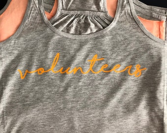 Clearance Volunteers Ladies' Tank Luna B. Tee Gray with Tennessee Orange - Size L only