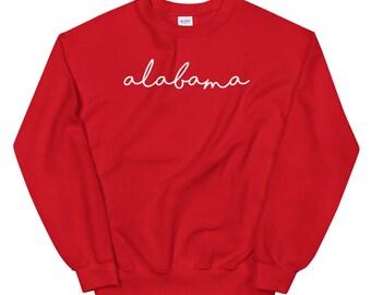 Alabama Cursive State University Unisex Sweatshirt