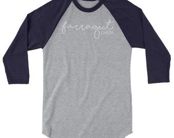 Farragut Cheer Unisex 3/4 sleeve raglan shirt