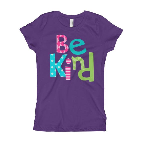 Be Kind Girl's T-Shirt kind shirt be kind to all positive kids shirt