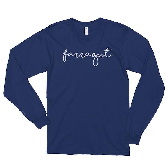 Farragut Cursive Long sleeve t-shirt (unisex) Tee Shirt Luna B Tee