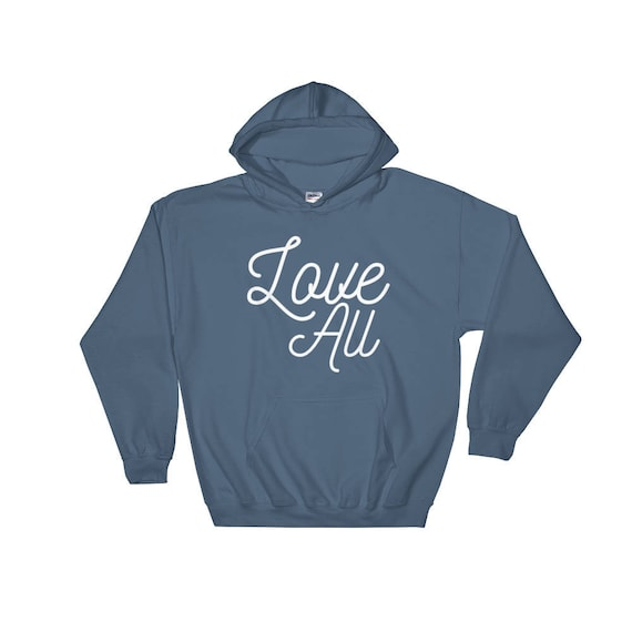 Love All Unisex Tennis Hoodie Tennis Gift Hooded Sweatshirt