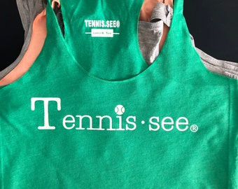 Clearance Tennis.see® Tennessee Tennis Ladies' Tank Luna B. Tee Green - Size L only