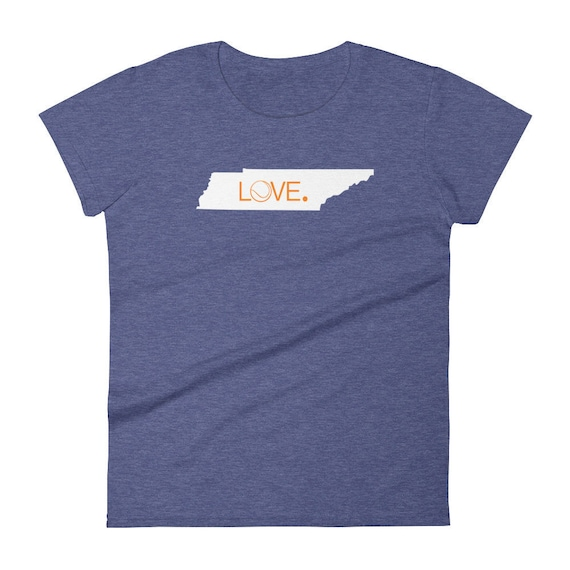 Tennessee Tennis Love State Tshirt Women's short sleeve t-shirt Many colors classic fit