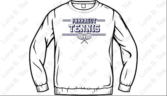 Farragut Tennis Adult Unisex Sweatshirt White
