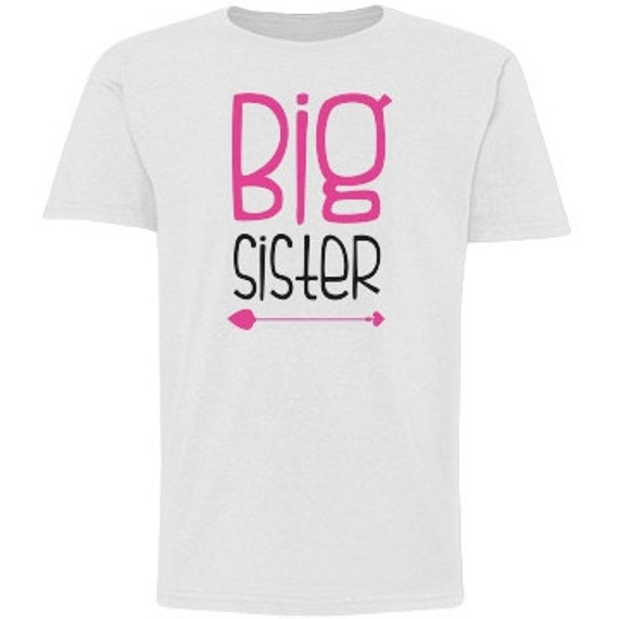 INSTANT DOWNLOAD Big Sister Arrow Print Yourself Printable DIY Iron On to Tee T-Shirt Transfer - Digital File