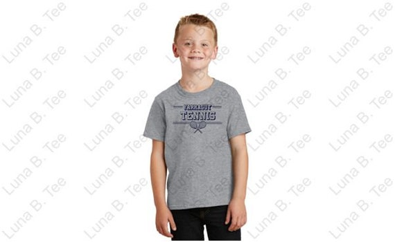 Farragut Tennis T-shirt Youth and Adult Farragut Tennis