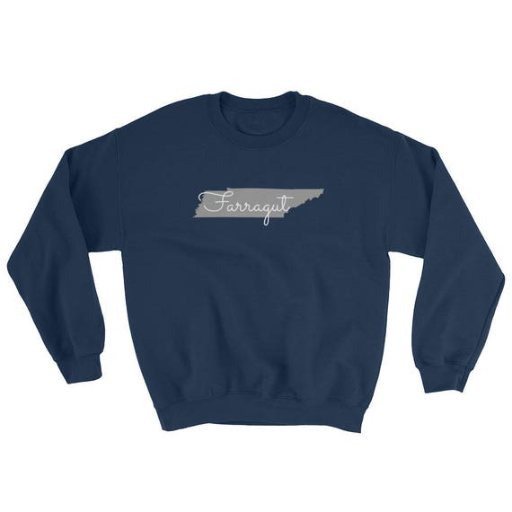 Farragut Tennessee State Long Sleeve Navy Unisex Sweatshirt