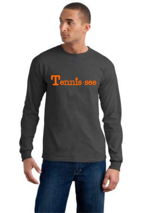 Tennessee Tshirt,  Tennis.see® Tshirt, Tennessee Shirt, Dark Heather Gray Tennis Shirt, Gray Tennessee Top, Tennis.see® Shirt, Unisex