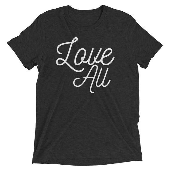 1e61d46af3a1d Tennis Love All Unisex tri-blend tshirt shirt tee Short sleeve t-shirt