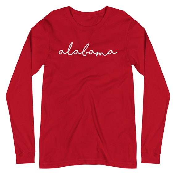 Alabama Cursive State University Unisex Long Sleeve Tee
