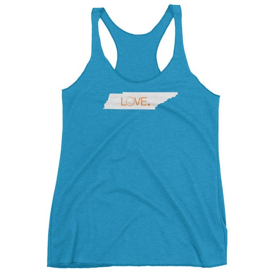 Tennessee Tennis State Love Women's Racerback Tank Tshirt Luna B. Tee