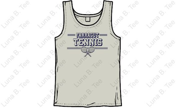 Farragut Tennis T-shirt Youth and Adult TANK Farragut Tennis