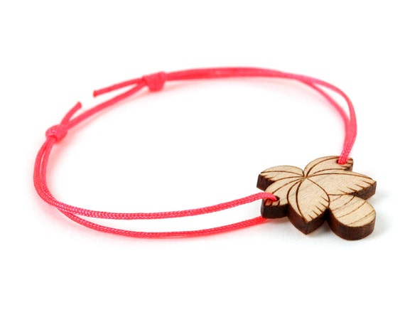 Palm tree bracelet - 25 colors - palmtree bangle - adjustable length - lasercut maple wood - graphic beach - summer jewelry - unisex